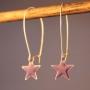 Ørebøjle med lilla emalje stjerne