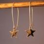 Ørebøjle med sort emalje stjerne